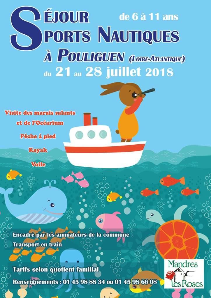 Séjour sports nautiques à Pouliguen pour les 6-11 ans du 21 au 28 juillet